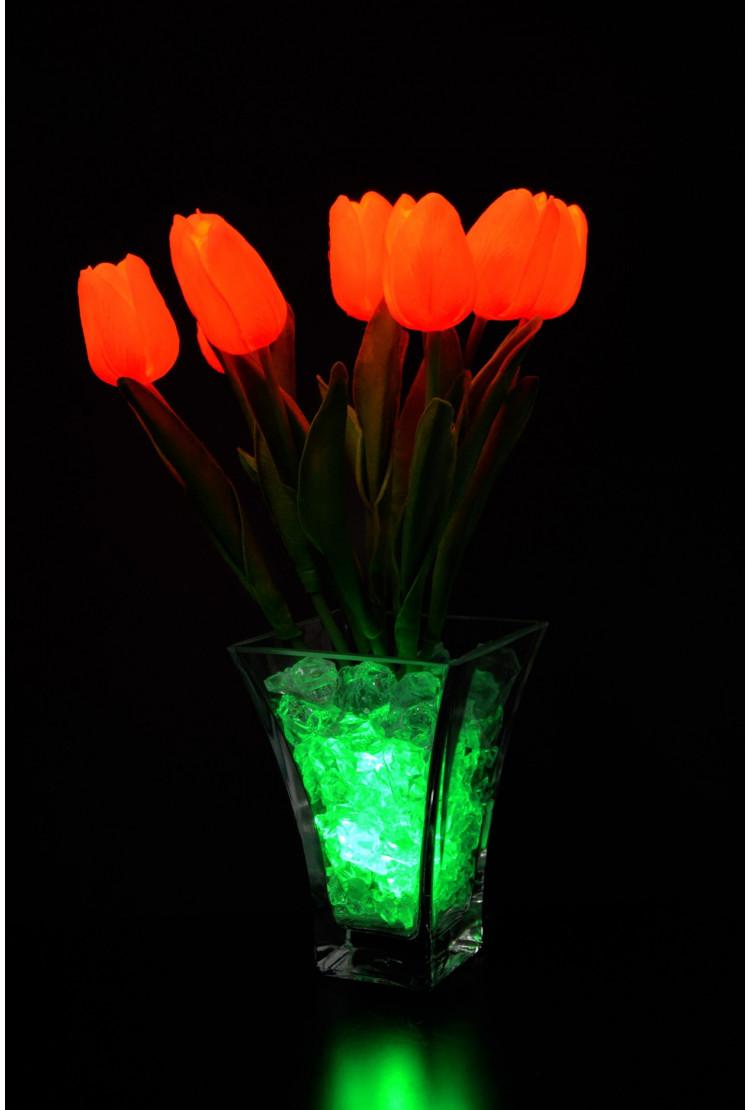 Ночник тюльпаны 9 шт Оранжевые (зел)