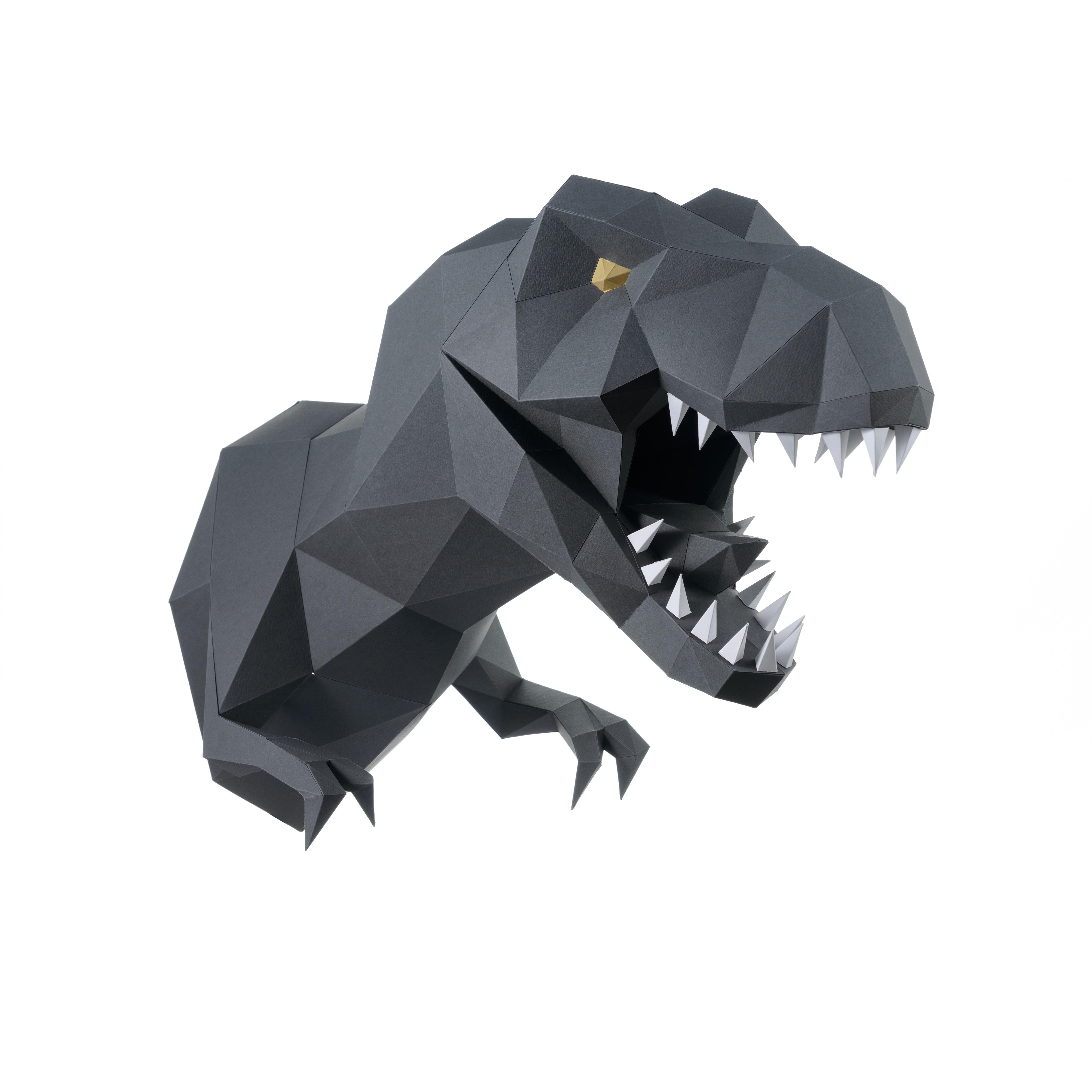 Трофейная голова Динозавр ЗАВР (графитовый)