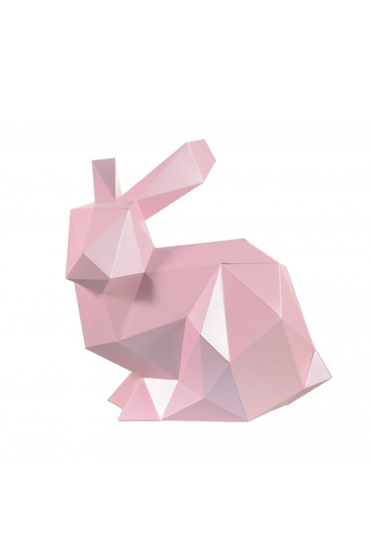 """3D-конструктор Paperraz """"КРОЛИК НЯШ"""" (розовый)"""