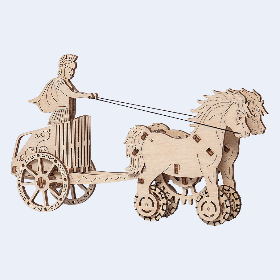 Римская колесница Woodencity