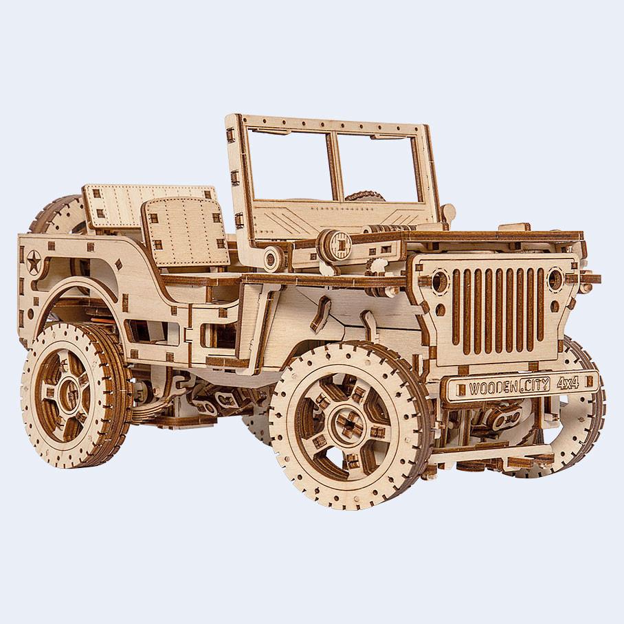 Конструктор Woodencity - Джип 4х4