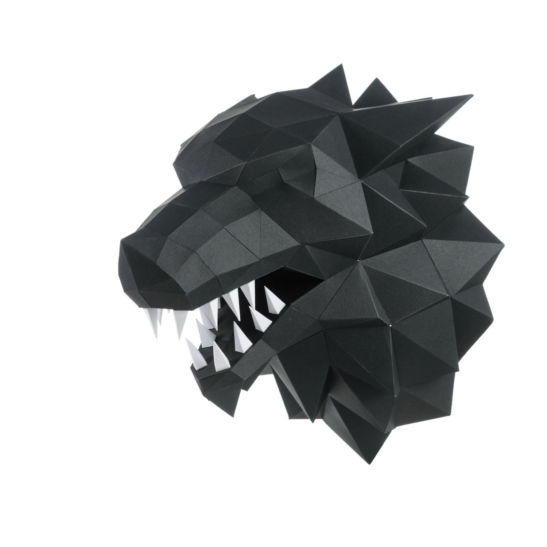 "3D-конструктор Paperraz ""ЛЮТОВОЛК"" (серый)"