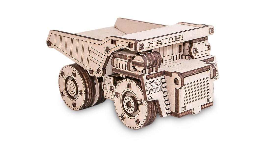Деревянный 3Д Конструктор EWA - Белаз мини
