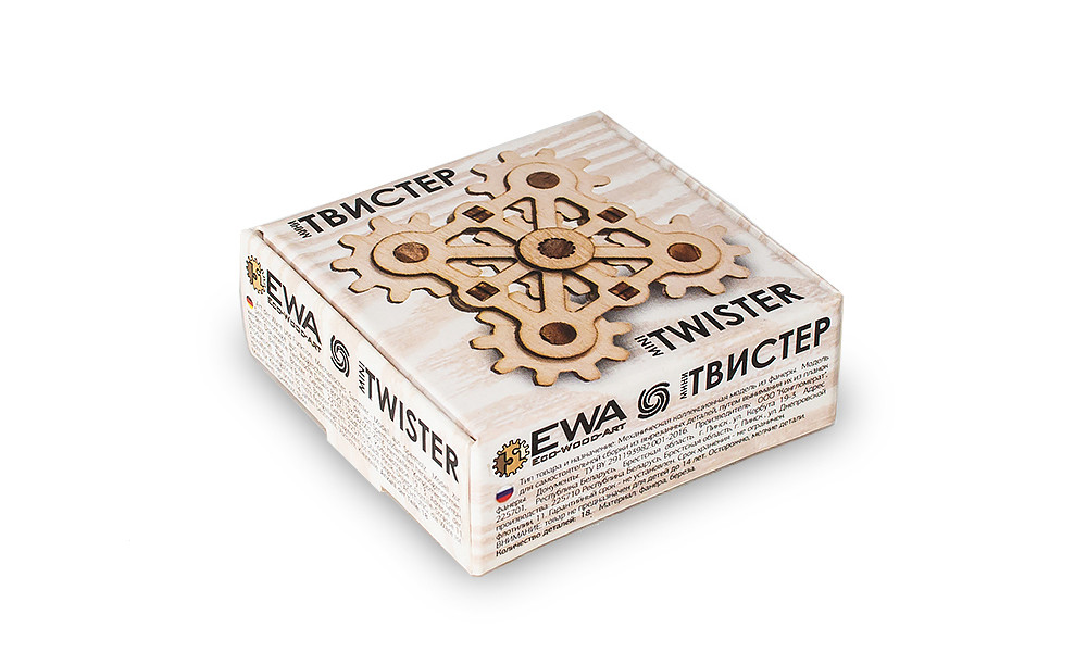 3D конструктор EcoWoodArt - Твистер мини