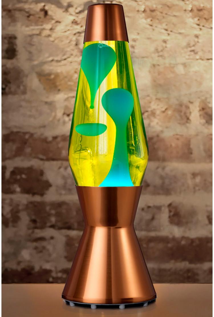 Лава-лампа Mathmos Astro Голубая/Жёлтая Copper(Воск)