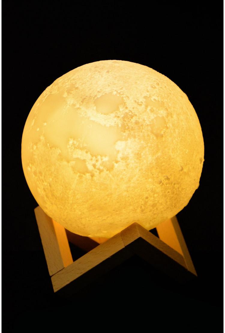 Ночник луна 15см (разноцветная)