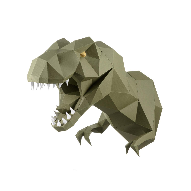 Трофейная голова Динозавр ЗАВР (васаби)