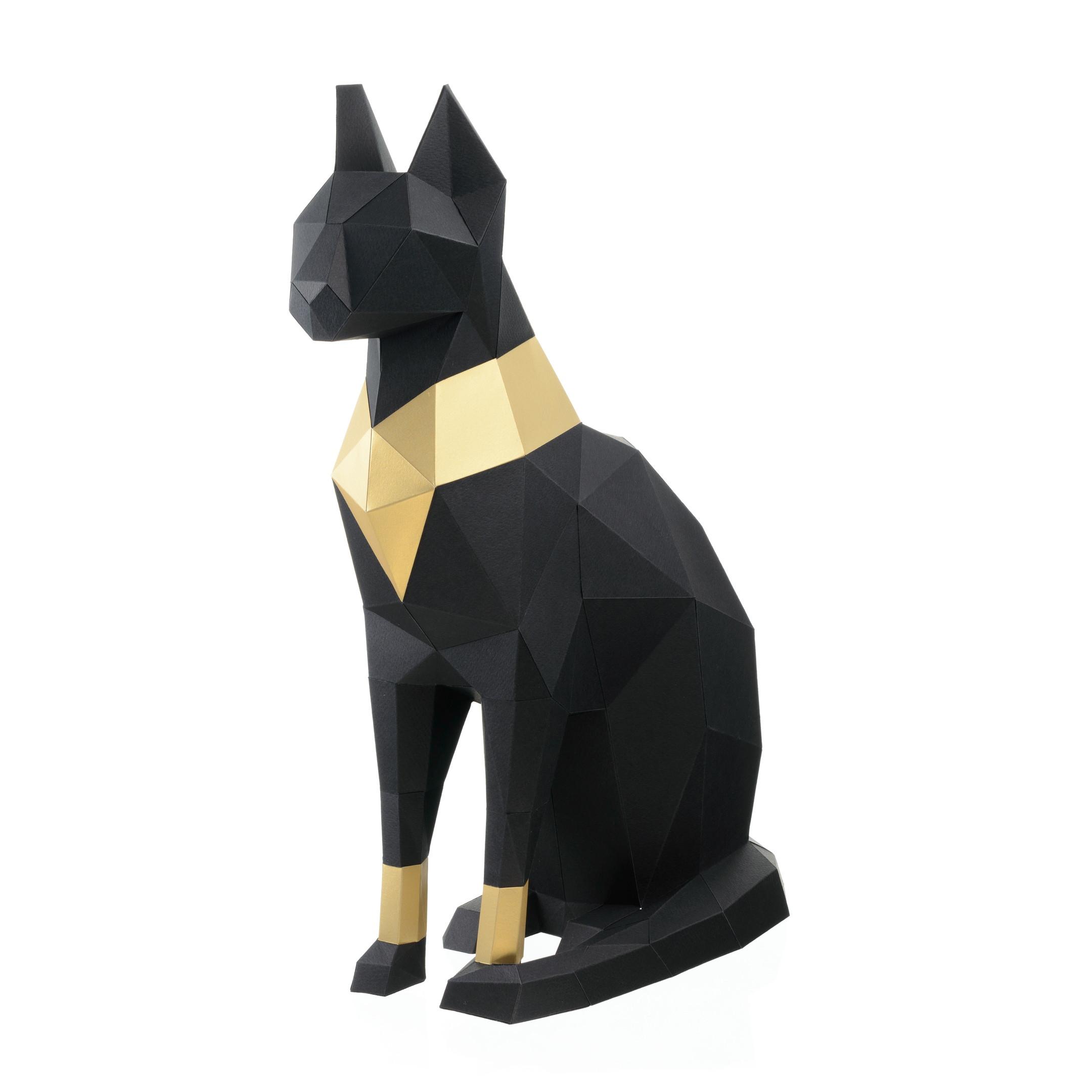 """3D-конструктор Paperraz """"Кошка Бастет"""" (черный)"""