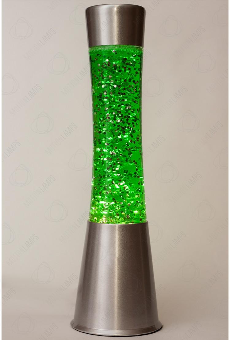Лава-лампа 39см CG-S Зелёная/Блёстки (Глиттер)
