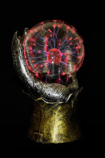 Светильник магический плазменный шар Рука (D - 10см)