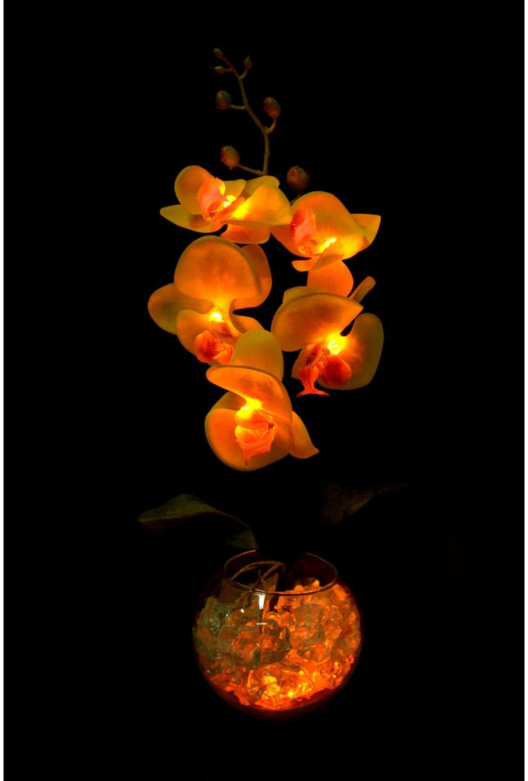 Светильник Орхидея Желтая 5 цветков
