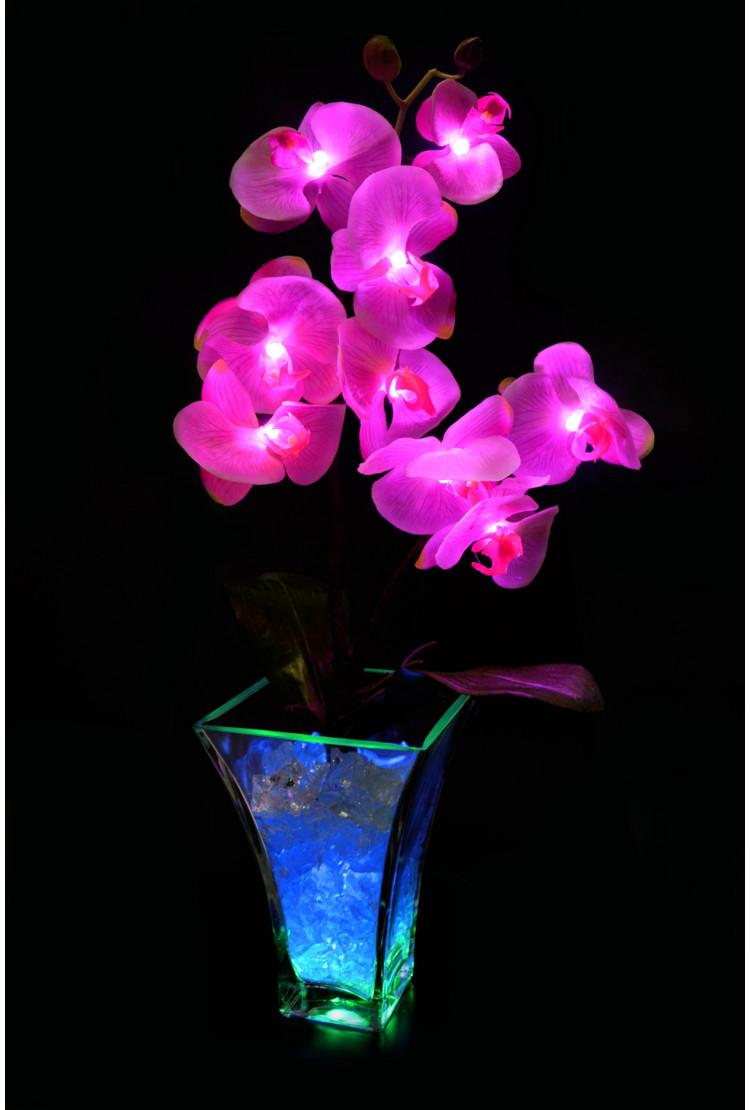 Светильник Орхидея Розовый(син) 9 цветков