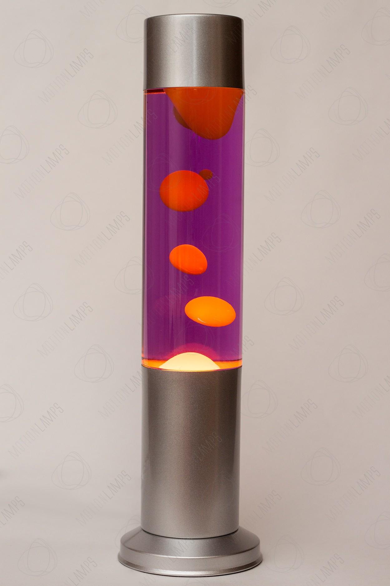Лава-лампа 38см CL Оранжевая/Фиолетовая (Воск)