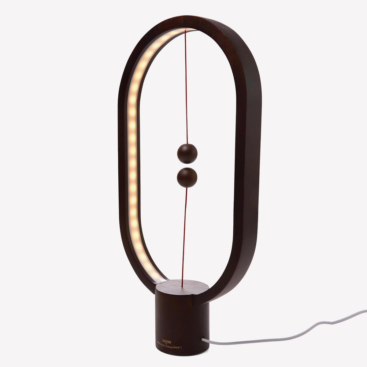Ночник Allocacoc Heng Balance Lamp темное дерево (Венге)