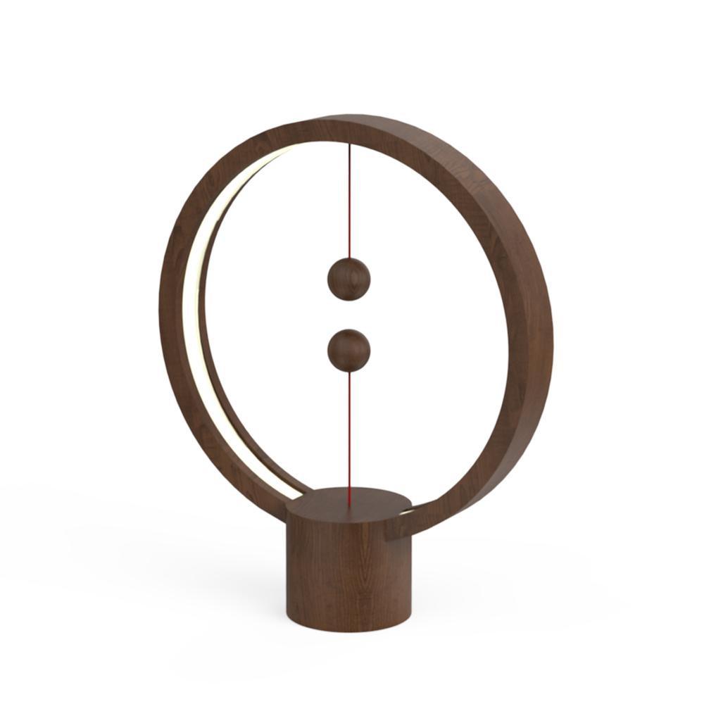 Ночник Allocacoc Heng Balance Lamp круглая темное дерево (Венге)