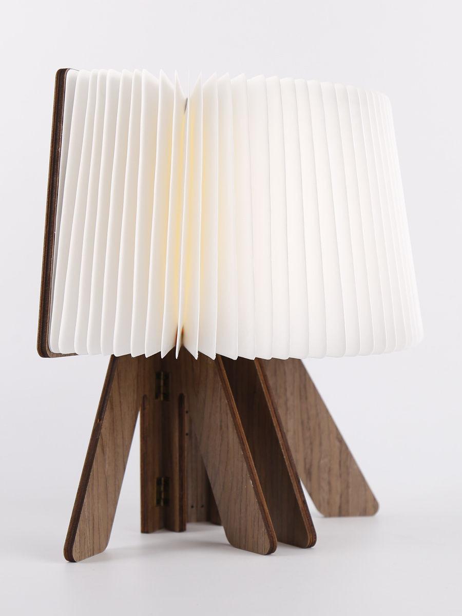 Светодиодная светящаяся книга Lumobook (грецкий орех)
