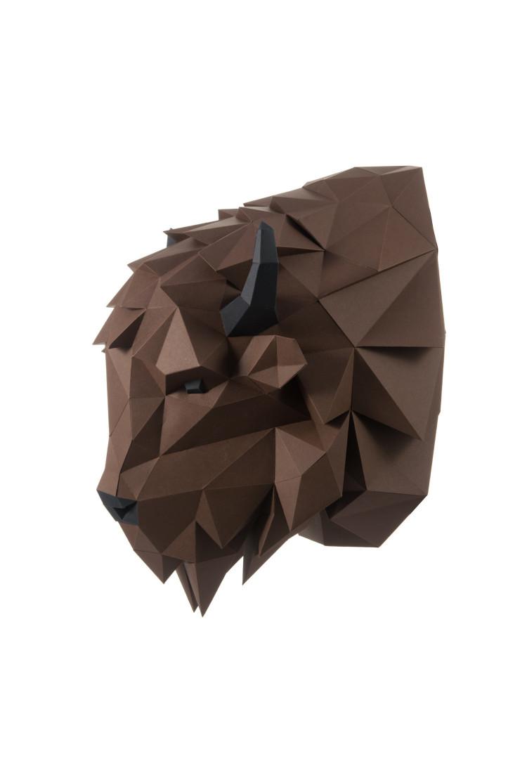 """3D-конструктор Paperraz """"Зубр Волат"""" (коричневый)"""