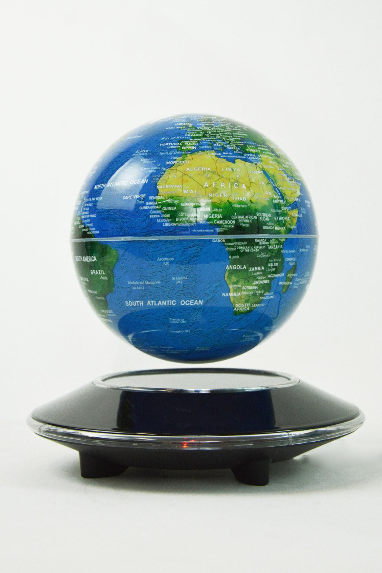 Левитационный глобус левитрон (D-14см) (светящийся)