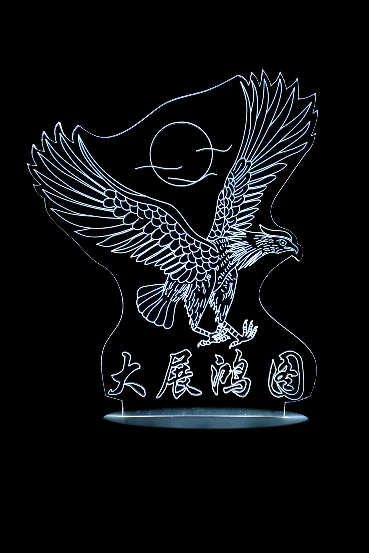 3D ночник Парящий Орёл 7 цветов