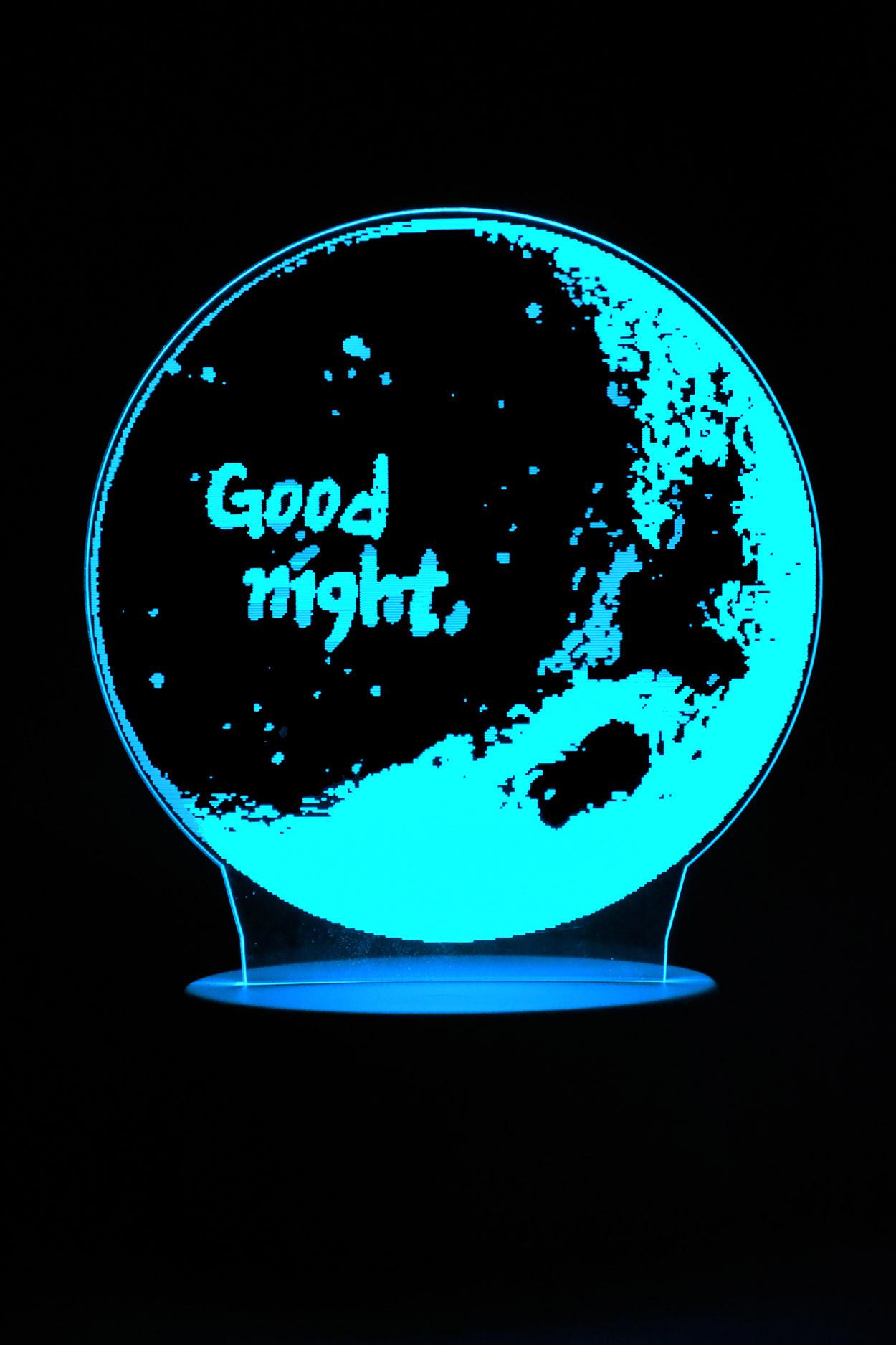 3D ночник Луна Good night 7 цветов