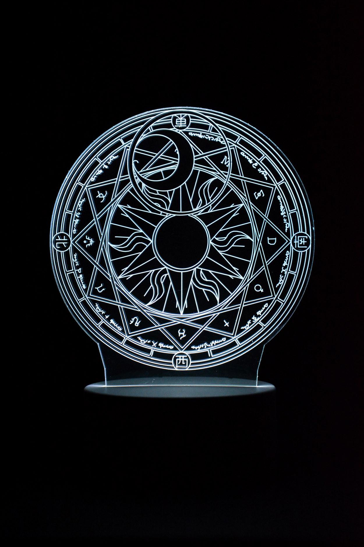 3D ночник круг Зодиак 7 цветов