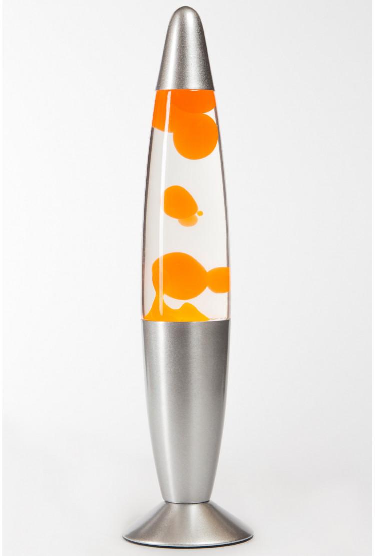 Лава-лампа 35см Оранжевая/Прозрачная (Воск)