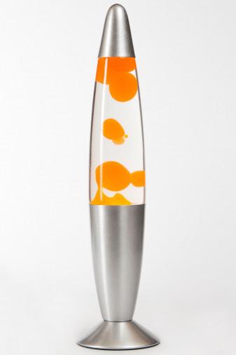 Лава-лампа 35см Оранжевая/Прозрачная