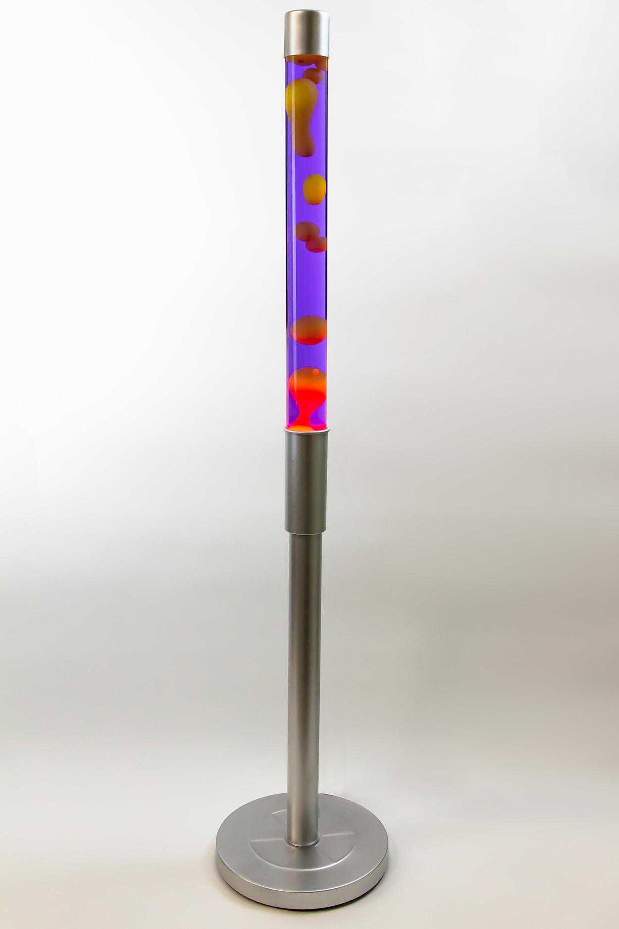 Напольная лава-лампа 129см Оранжевая/Фиолетовая (Воск)