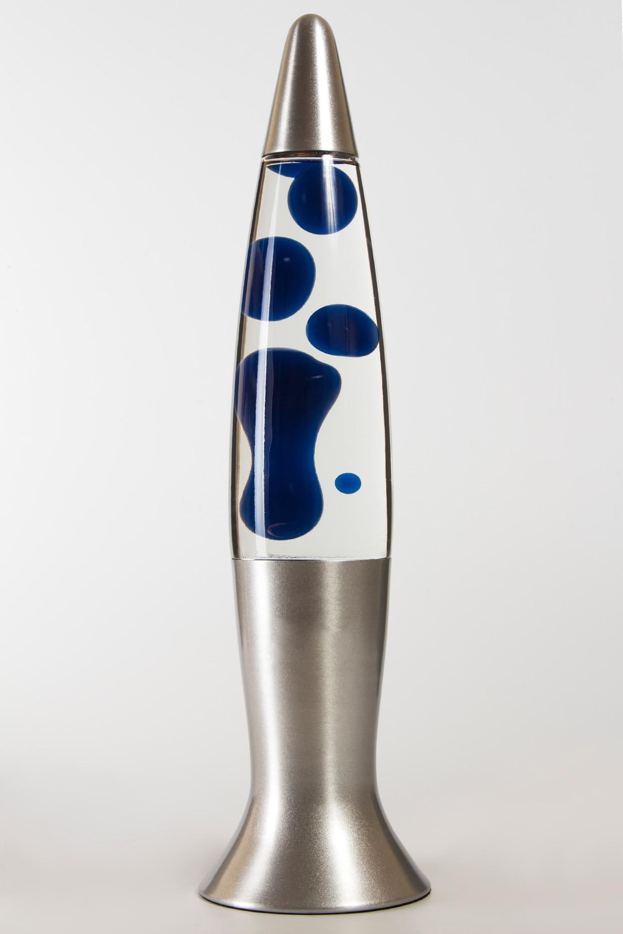 Лава-лампа 40см Синяя/Прозрачная (Воск)