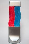 Лава-лампа 40см Wave Красная/Синяя Блестки (Глиттер)