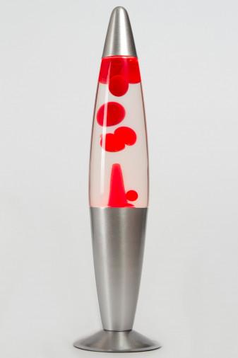 Лава-лампа 41см Красная/Прозрачная