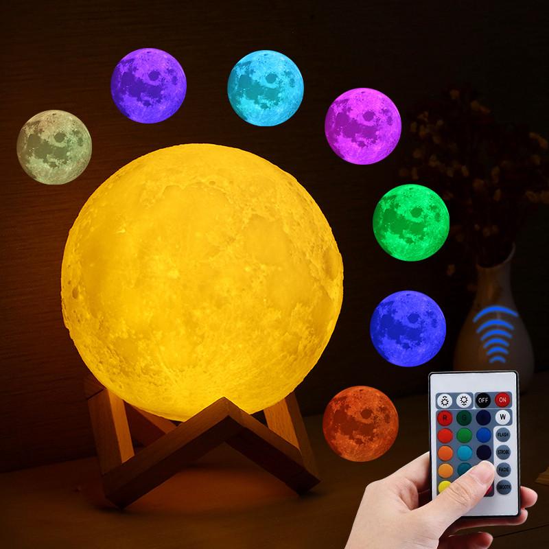 Ночник луна 14см (RGB)