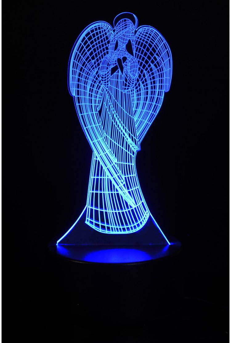3D светильник Ангел 3 цвета