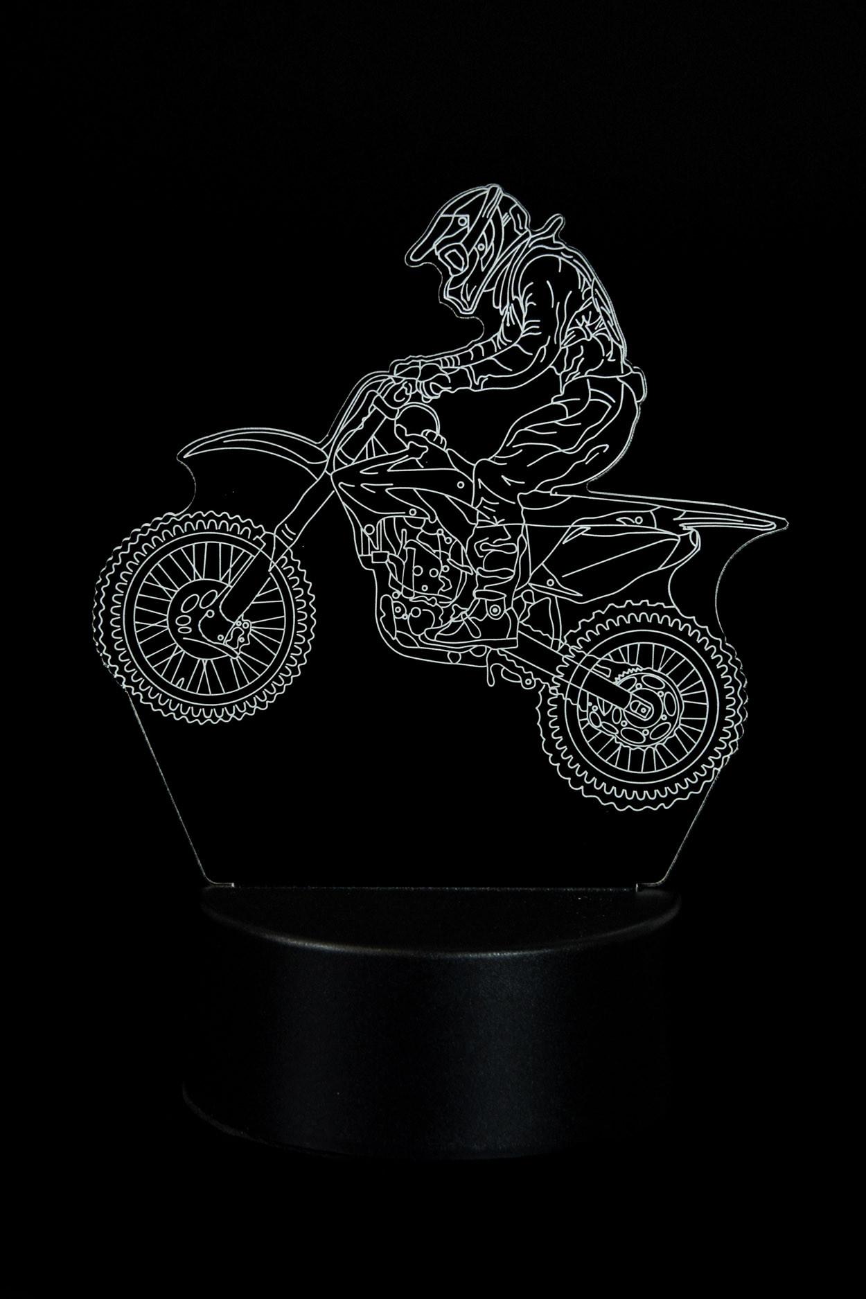 3D светильник Мотоциклист 3 цвета