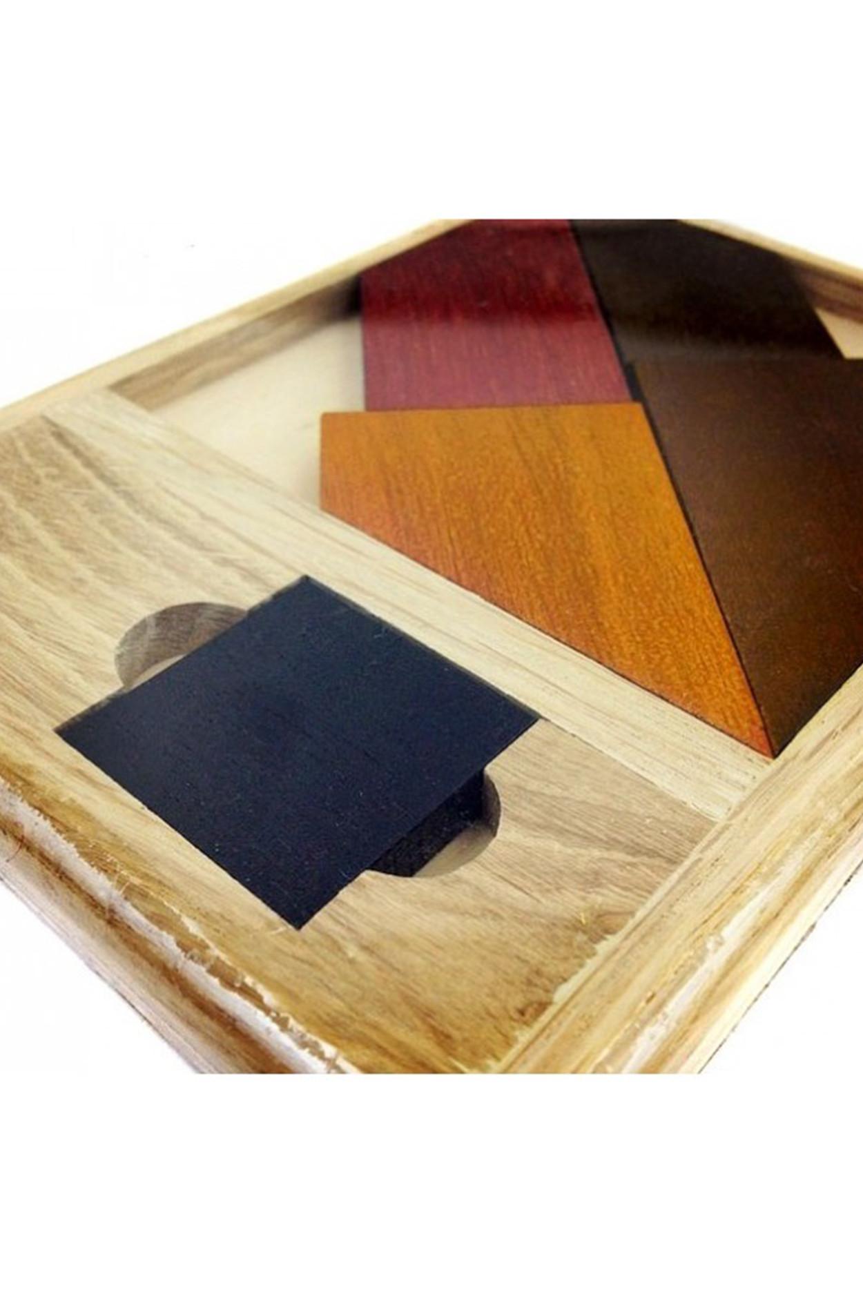 Головоломка деревянная «Черный квадрат» №2 Элит