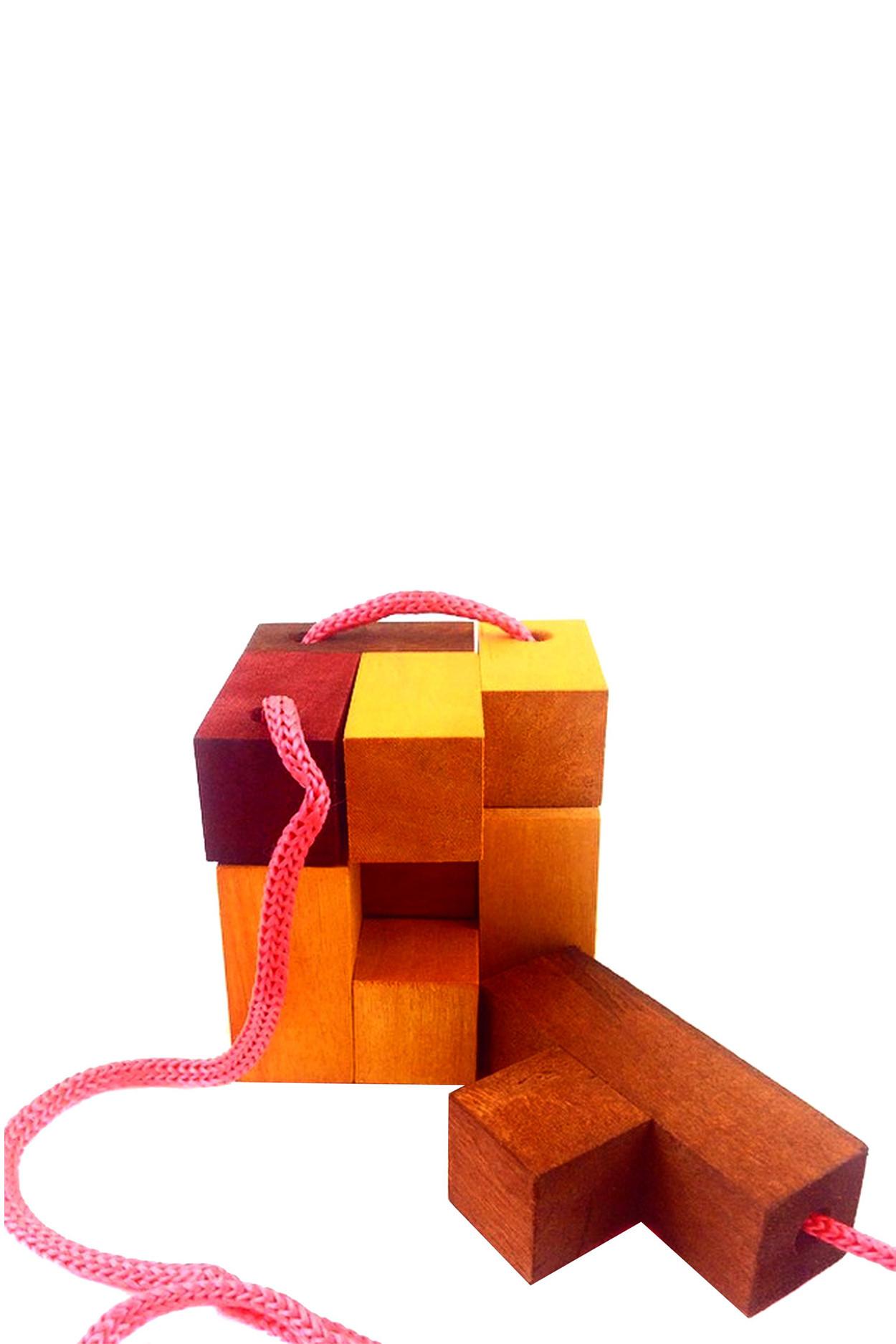 """Деревянная головоломка """"Кубик для путешественников"""""""
