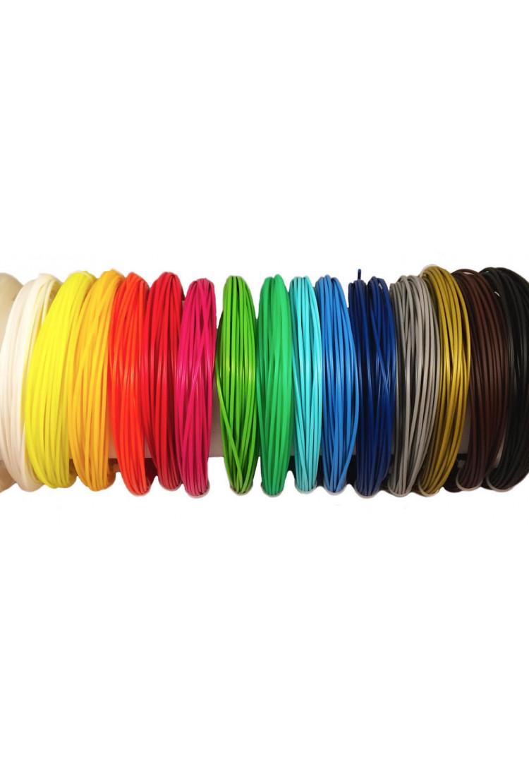 Набор нитей для 3D-ручки 15 цветов по 10 м ABS/PLA