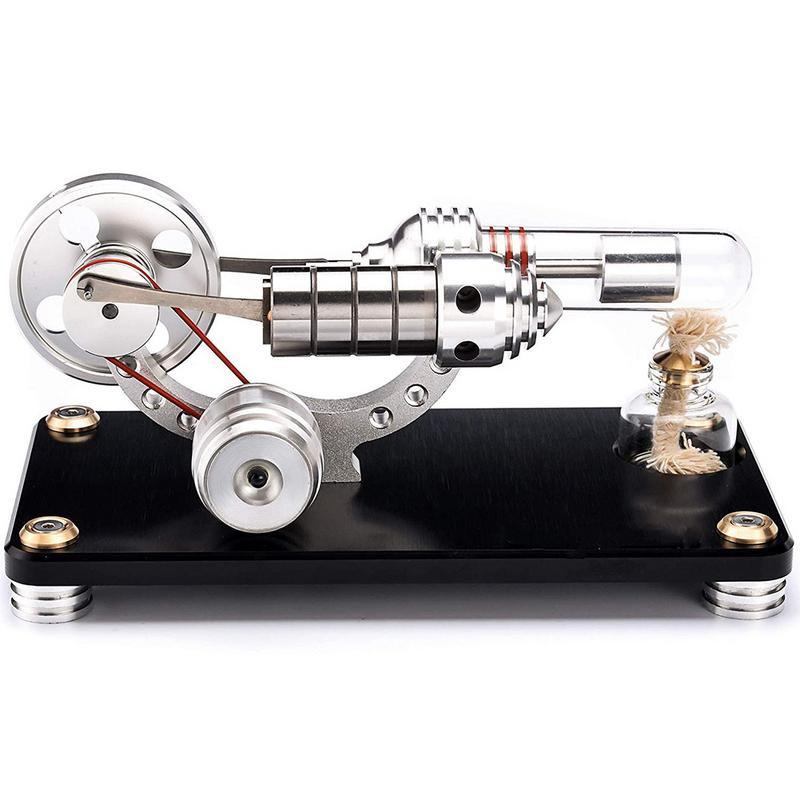 Двигатель Стирлинга на черной подставке