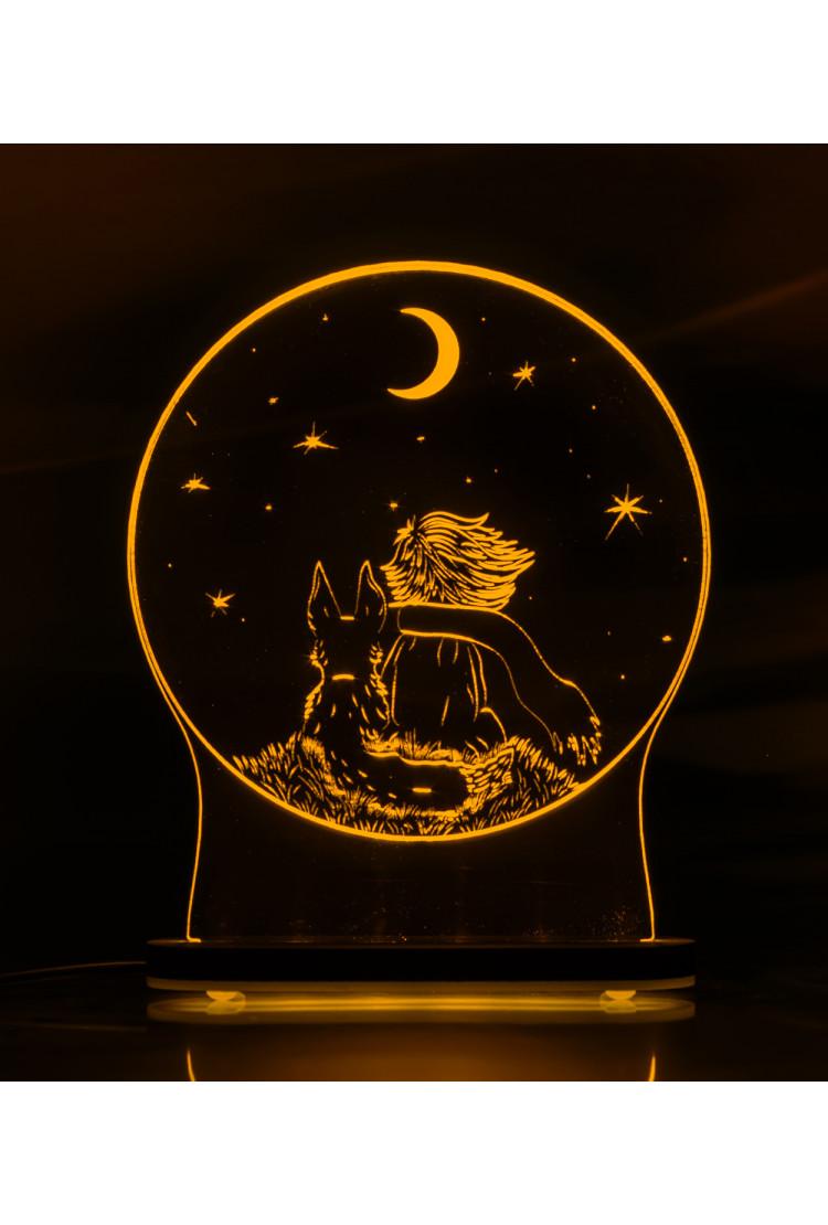 3D светильник Маленький принц  (21*17)