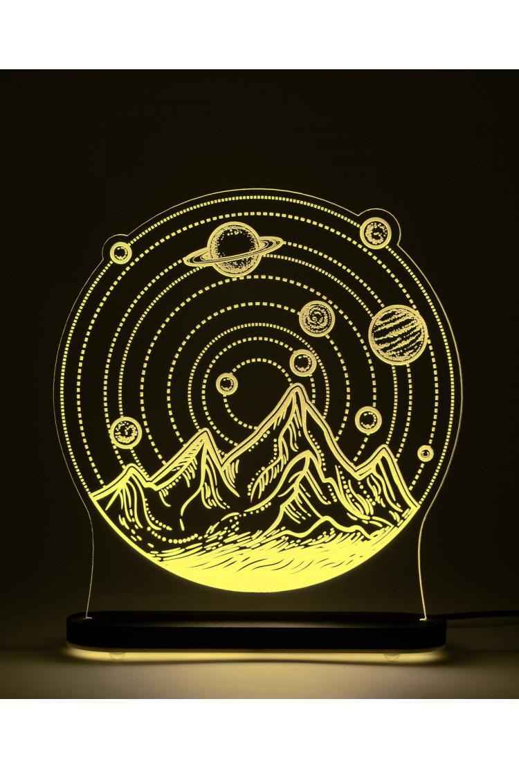 3D светильник Солнечная система (21*20)