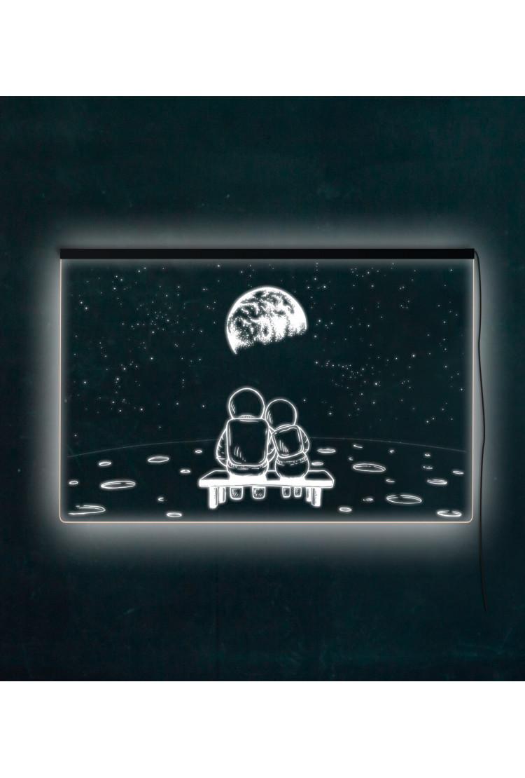 3D панель Лунная романтика (60*40)