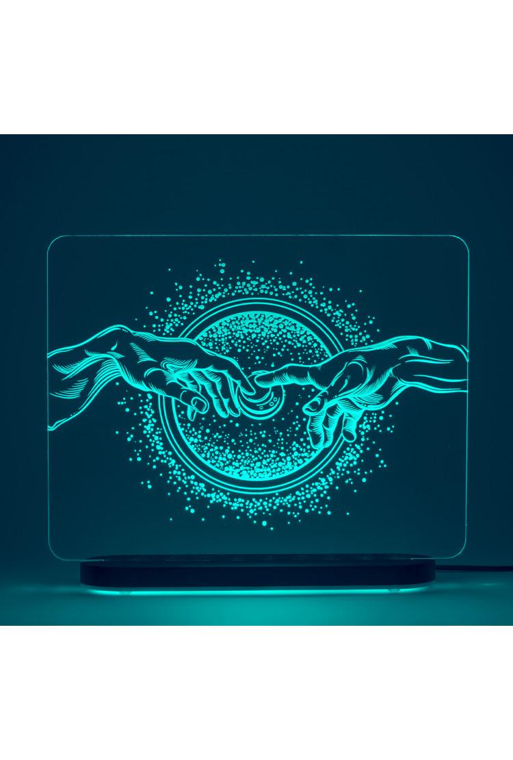3D светильник Сотворение. Галактика (29*22)