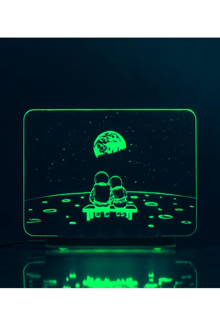 3D светильник Луна. Романтика (29*22)