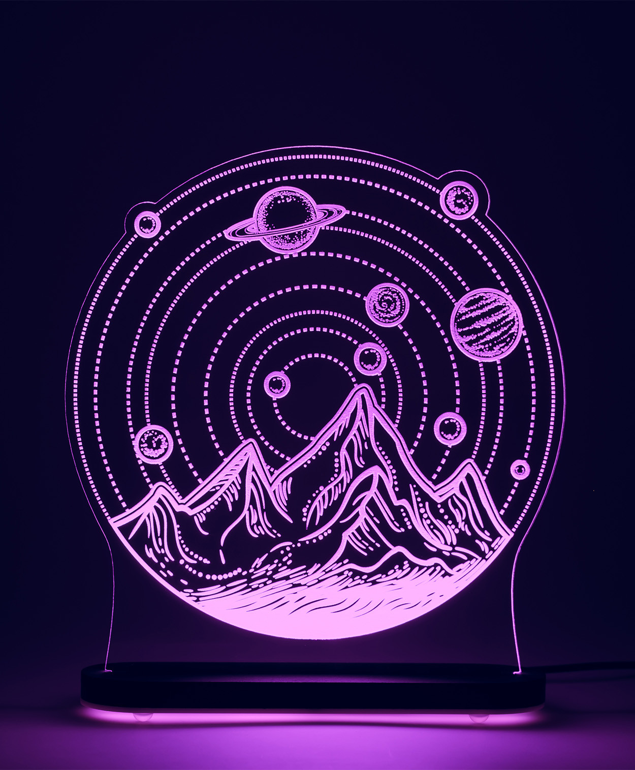 3D светильник Солнечная система (29*22)