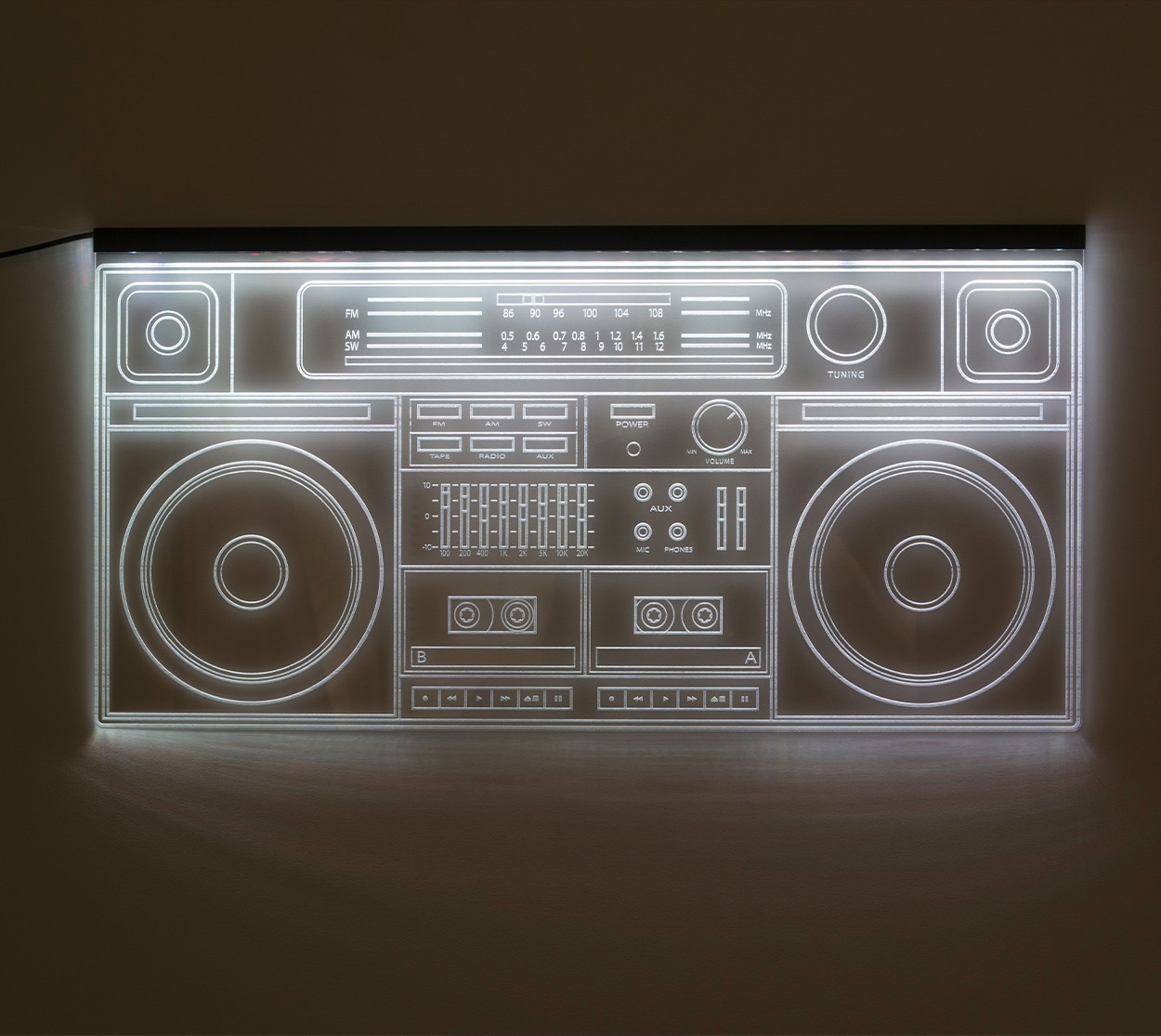 """3D-светящаяся панель """"Бумбокс"""" (60*30 см) от 5 750 руб"""