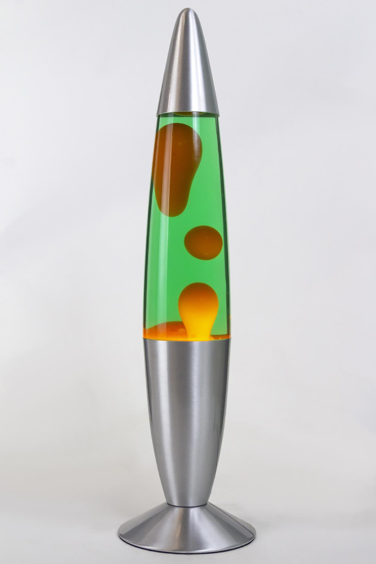 Лава-лампа 48см Оранжевая/Зелёная (Воск)