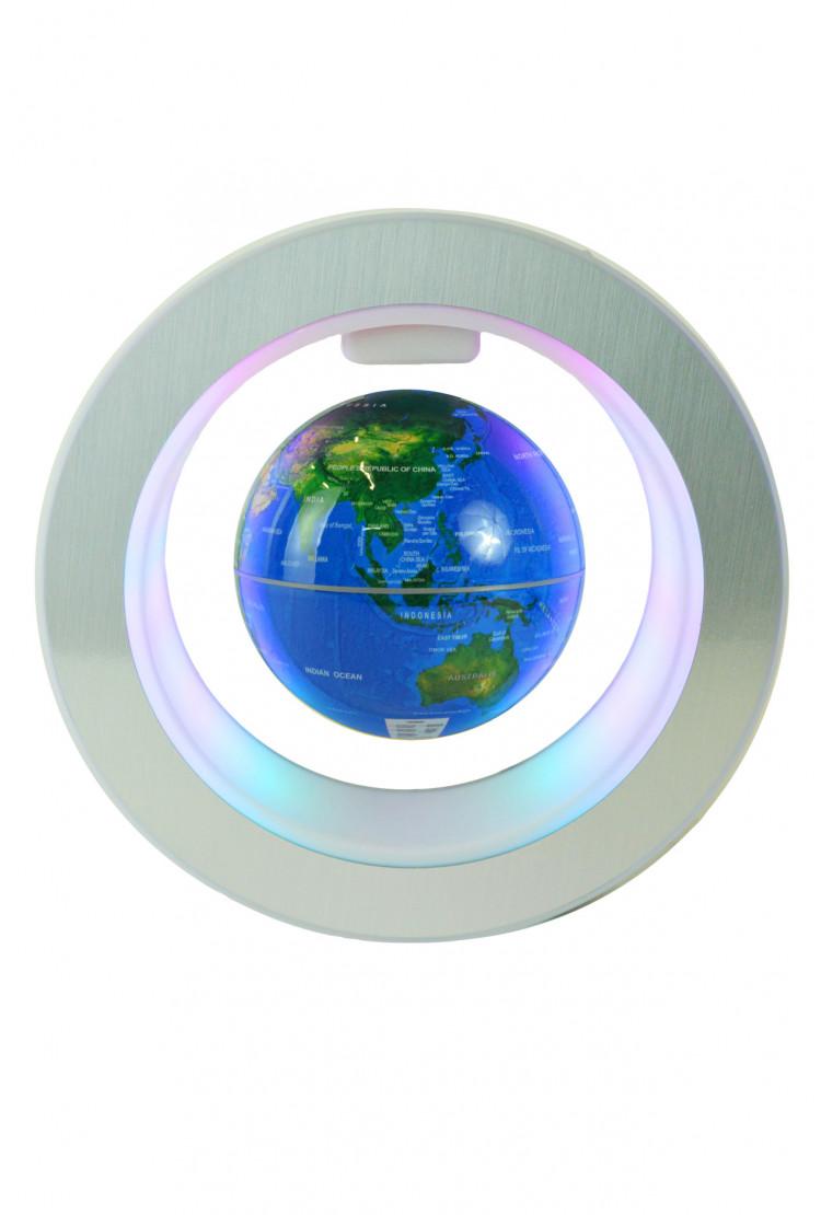 Левитирующий глобус в круглой рамке (D-10см)