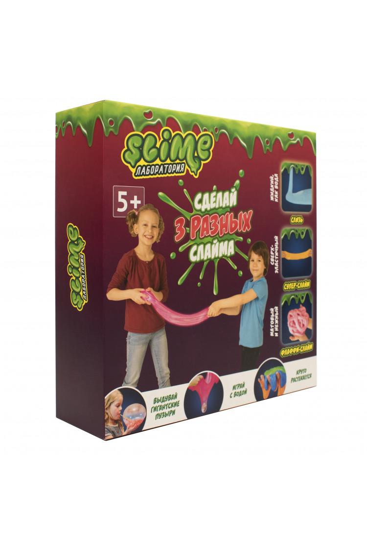 "Средний  набор 3 в 1 Slime ""Лаборатория"", 300 гр."