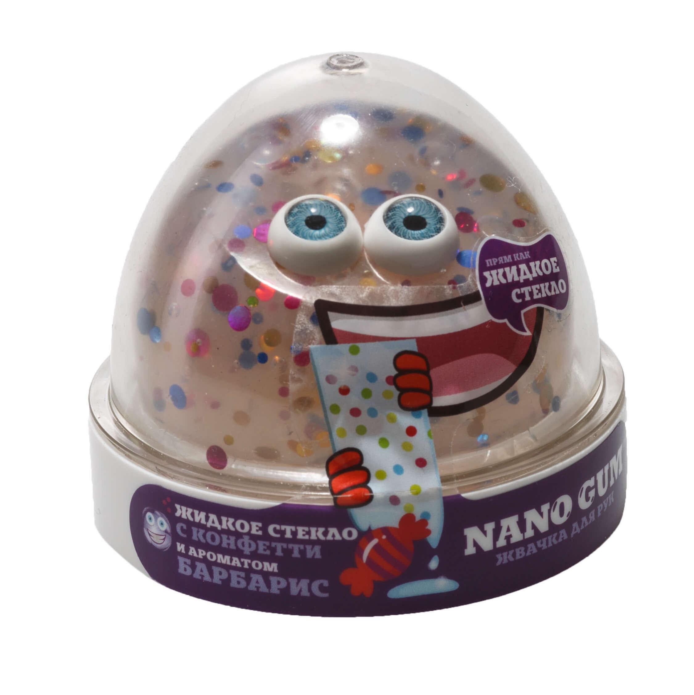 Nano gum, Жидкое стекло с конфети с ароматом Барбариса