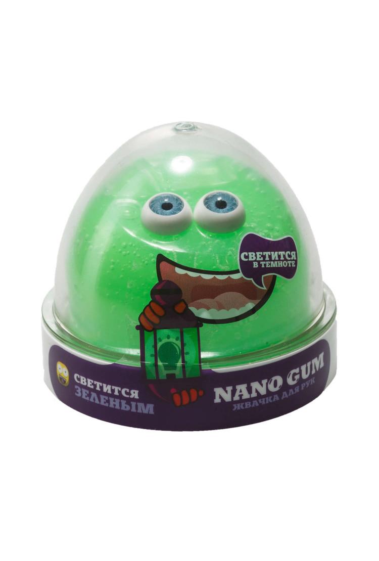 Жвачка для рук Nano gum, светится в темноте зеленым